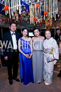 Ryuji Ueno, Tamaki Kawakubo, Ayane Kozasa, Opera Ball Co-Chair Sachiko Kuno. Photo by Tony Powell. 2014 Opera Ball. Japanese Ambassador's Residence. June 7, 2014