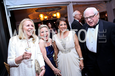 Gilan Corn, Vibeke Lofft, Shahin Mafi, Milton Corn. Photo by Tony Powell. 2014 Opera Ball. Japanese Ambassador's Residence. June 7, 2014