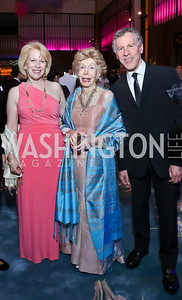 Susan, Ina and Mark Ginsburg. Photo by Tony Powell. 2014 Opera Ball. Japanese Ambassador's Residence. June 7, 2014