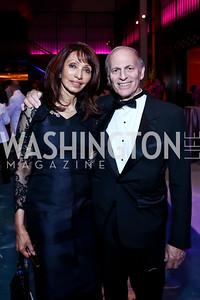 Rohini Talalla and Jeffrey Bader. Photo by Tony Powell. 2014 Opera Ball. Japanese Ambassador's Residence. June 7, 2014