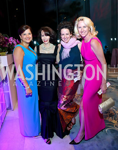 Jacquie Bloom, Lin MacMaster, Sue Charleton, Holly Page. Photo by Tony Powell. 2014 Opera Ball. Japanese Ambassador's Residence. June 7, 2014