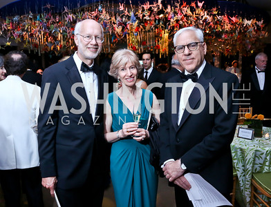 Jim Feldman, Natalie Wexler, David Rubenstein. Photo by Tony Powell. 2014 Opera Ball. Japanese Ambassador's Residence. June 7, 2014