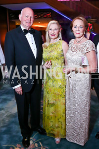 Michael and Susan Pillsbury, Diane Flamini. Photo by Tony Powell. 2014 Opera Ball. Japanese Ambassador's Residence. June 7, 2014