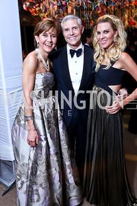 Capricia Marshall, David Monn, Mary Anne Huntsman. Photo by Tony Powell. 2014 Opera Ball. Japanese Ambassador's Residence. June 7, 2014