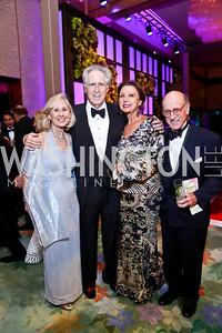 Willee Lewis, Nash Schott and Aniko Gaal Schott, Finlay Lewis. Photo by Tony Powell. 2014 Opera Ball. Japanese Ambassador's Residence. June 7, 2014