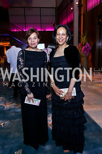 Shireen Said, Oman Amb. Hunaina Al-Mughairy. Photo by Tony Powell. 2014 Opera Ball. Japanese Ambassador's Residence. June 7, 2014
