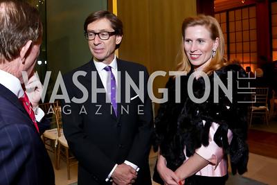 Germany Amb. Peter Wittig and Huberta Wittig. Photo by Tony Powell. Opera Camerata of Washington Gala. Japan Amb's Residence. December 5, 2014