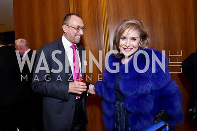 Stefan Lopatkiewicz, Teri Gálvez. Photo by Tony Powell. Opera Camerata of Washington Gala. Japan Amb's Residence. December 5, 2014