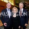 Christopher Burnham, Wilma and Stuart Bernstein. Photo by Tony Powell. Opera Camerata of Washington Gala. Japan Amb's Residence. December 5, 2014