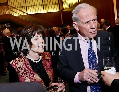 Didi and Walter Cutler. Photo by Tony Powell. Opera Camerata of Washington Gala. Japan Amb's Residence. December 5, 2014
