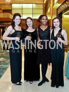 Katie McDonald, April Yeager, Stephanie Jordan, Jessica Roman. Photo by Tony Powell. Opera Camerata of Washington Gala. Japan Amb's Residence. December 5, 2014