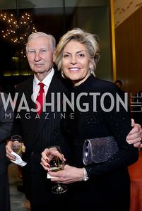 Sen. Joseph Tydings, Alison White. Photo by Tony Powell. Opera Camerata of Washington Gala. Japan Amb's Residence. December 5, 2014