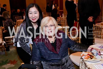 Kiyomi Buker, Linda Sonnenreich. Photo by Tony Powell. Opera Camerata of Washington Gala. Japan Amb's Residence. December 5, 2014