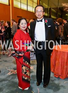 Eriko Murray, Masato Otaka. Photo by Tony Powell. Opera Camerata of Washington Gala. Japan Amb's Residence. December 5, 2014