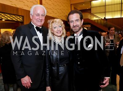 Timothy Thomas, Joyce Hagel Silverman, Roger Riggle. Photo by Tony Powell. Opera Camerata of Washington Gala. Japan Amb's Residence. December 5, 2014