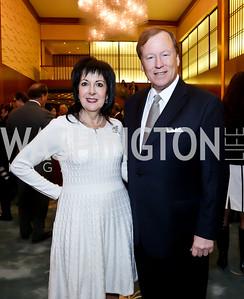 Liz Sara, David Blee. Photo by Tony Powell. Opera Camerata of Washington Gala. Japan Amb's Residence. December 5, 2014