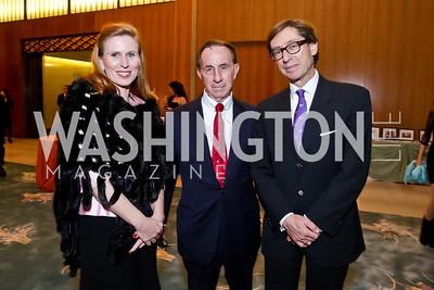 Huberta Wittig, Board President Randall Roe, Germany Amb. Peter Wittig. Photo by Tony Powell. Opera Camerata of Washington Gala. Japan Amb's Residence. December 5, 2014