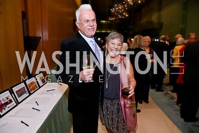 Michael Reilly, Mary Bingham. Photo by Tony Powell. Opera Camerata of Washington Gala. Japan Amb's Residence. December 5, 2014