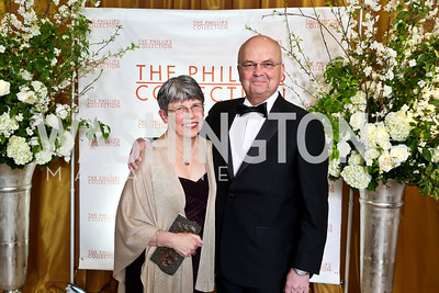 Jeanine and Michael Hayden. Photo © Tony Powell. 2014 Phillips Collection Gala. May 16, 2014