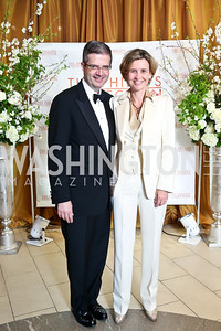 French Amb. Francoise Dellatre and Sophie Delattre. Photo © Tony Powell. 2014 Phillips Collection Gala. May 16, 2014