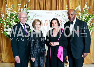 Roger and Vicki Sant, Ann and Vernon Jordan. Photo © Tony Powell. 2014 Phillips Collection Gala. May 16, 2014