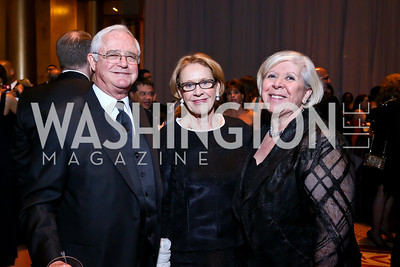 Jack Gansler, Marcia Carlucci, Leah Gansler. Photo by Tony Powell. 2014 Prevent Cancer Gala. Building Museum. March 7, 2014