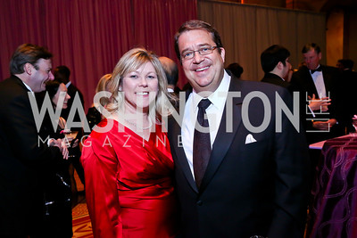Lori Jenkins, George Swygert. Photo by Tony Powell. 2014 Prevent Cancer Gala. Building Museum. March 7, 2014