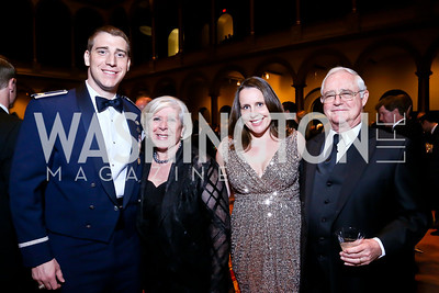 Josh Weed, Leah Gansler, Kristin Weed, Jack Gansler. Photo by Tony Powell. 2014 Prevent Cancer Gala. Building Museum. March 7, 2014