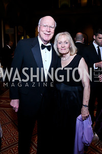 Sen. Patrick Leahy and Marcelle Leahy. Photo by Tony Powell. 2014 Prevent Cancer Gala. Building Museum. March 7, 2014