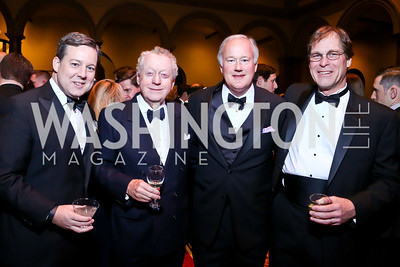 Ed Henry, Tom Quinn, Bob Jones, Marcel Dubois. Photo by Tony Powell. 2014 Prevent Cancer Gala. Building Museum. March 7, 2014
