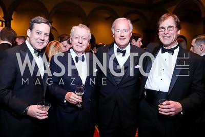 Ed Henry, Tom Quinn, Bob Jones, Marcel Dubois. Photo by Tony Powell. 2014 Prevent Cancer Gala. Building Museum. March 7, 2014