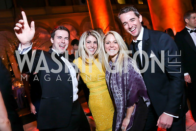 Tim Barnes, Danielle Farrah, Sarah Sands and Ben Sands. Photo by Tony Powell. 2014 Prevent Cancer Gala. Building Museum. March 7, 2014