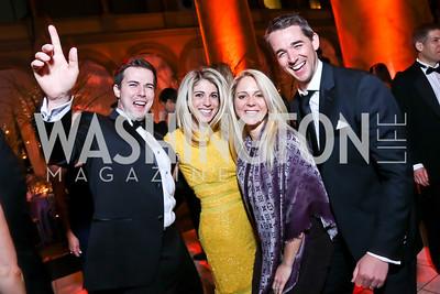 Tim Barnes, Danielle Farrah, Sarah Sands and Ben Sands. Photo by Tony Powell. 2014 Prevent Cancer Gala. Building Museum. March 7, 2014
