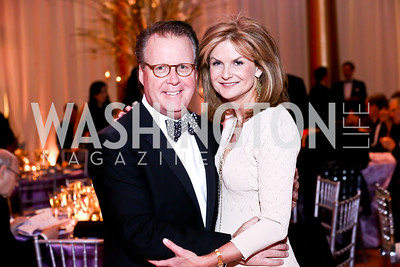 Gala Chairs Jeff and Gail MacKinnon. Photo by Tony Powell. 2014 Prevent Cancer Gala. Building Museum. March 7, 2014