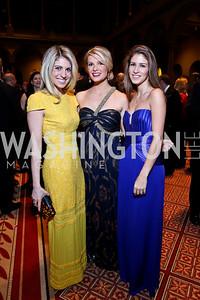 Danielle Farrah, Katherine Kennedy Allen, Jocelyn Kmet. Photo by Tony Powell. 2014 Prevent Cancer Gala. Building Museum. March 7, 2014