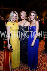 Danielle Farrah, Katherine Kennedy Allen, Jocelyn Kmet. Photo by Tony Powell. 2014 Prevent Cancer Gala. Building Museum. March 7, 2014