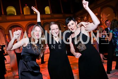 Emily Sheridan, Nancy Goodman, Lynne Zydowsky. Photo by Tony Powell. 2014 Prevent Cancer Gala. Building Museum. March 7, 2014