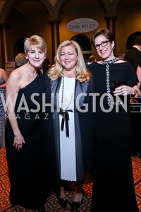 Stacey Hughes, Kimberly Fritts, Rai Downs. Photo by Tony Powell. 2014 Prevent Cancer Gala. Building Museum. March 7, 2014
