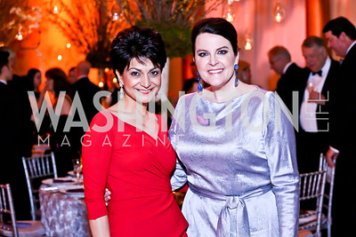 Shamim Jawad, Rachel Pearson. Photo by Tony Powell. 2014 Prevent Cancer Gala. Building Museum. March 7, 2014