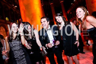 Alexandra Sol, Mary Palmer, Melecio Rivera, Raquel Hawk, Ali Wolpert. Photo by Tony Powell. 2014 Prevent Cancer Gala. Building Museum. March 7, 2014
