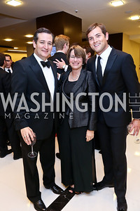 Sen. Ted Cruz, Sen. Amy Klobuchar, Luke Russert. Photo by Tony Powell. 2014 Radio and Television Correspondents Association Dinner. Marriott Marquis. June 12, 2014