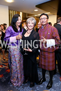 Daw Gyem, Anne Gehman, Tshewang Wangchuk. Photo by Tony Powell. 2014 Radio and Television Correspondents Association Dinner. Marriott Marquis. June 12, 2014