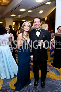 Global Broadcasting's Cherie Dimmerling, CNN's Avery Friedman. Photo by Tony Powell. 2014 Radio and Television Correspondents Association Dinner. Marriott Marquis. June 12, 2014