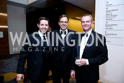 ABC News' Rick Klein, Jake Tapper, ABC News' David Kerley. Photo by Tony Powell. 2014 Radio and Television Correspondents Association Dinner. Marriott Marquis. June 12, 2014