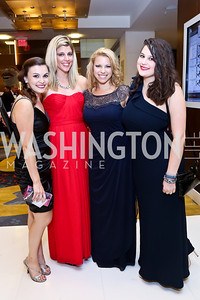 Christina DiSomma, Rachel Williams, Sarah Seman, Christine Rousselle. Photo by Tony Powell. 2014 Radio and Television Correspondents Association Dinner. Marriott Marquis. June 12, 2014