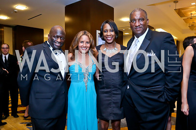 Al Jazeera's Jeff Ballou, CNN's Suzanne Malveaux, Traci Caldwell, CNN's Bryan Monroe. Photo by Tony Powell. 2014 Radio and Television Correspondents Association Dinner. Marriott Marquis. June 12, 2014