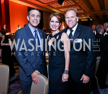 Rep. Darrell Issa, Kristi Rogers and Rep. Mike Rogers. Photo by Tony Powell. 2014 Radio and Television Correspondents Association Dinner. Marriott Marquis. June 12, 2014
