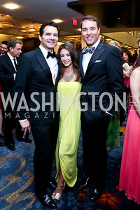 Al Jazeera's John Hendren, Liz Nagy, WJLA ABC 7's Scott Thune. Photo by Tony Powell. 2014 Radio and Television Correspondents Association Dinner. Marriott Marquis. June 12, 2014