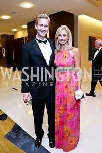 FOX News' Peter Doocy, ABC 7's Autria Godfrey. Photo by Tony Powell. 2014 Radio and Television Correspondents Association Dinner. Marriott Marquis. June 12, 2014