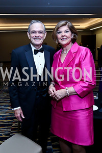 Dr. William Hughes, Ann Compton. Photo by Tony Powell. 2014 Radio and Television Correspondents Association Dinner. Marriott Marquis. June 12, 2014